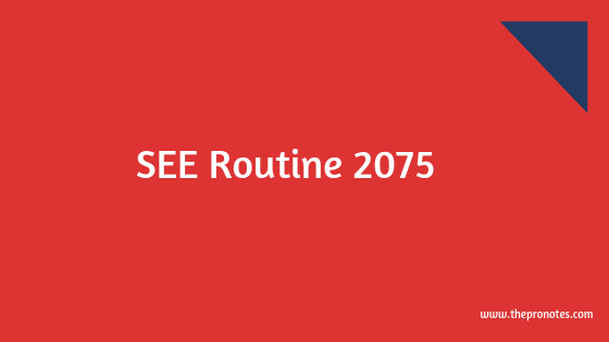 SEE Routine 2075 1