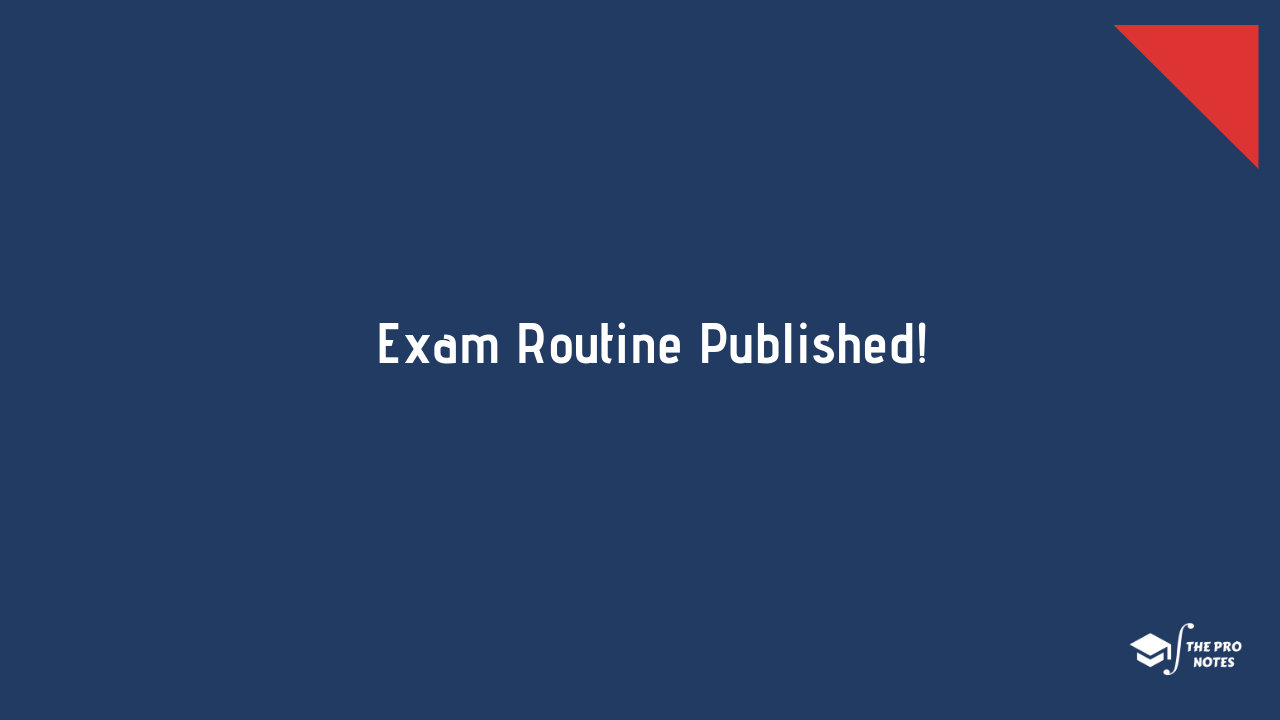 BSc CSIT Second Semester Examination Routine: TU