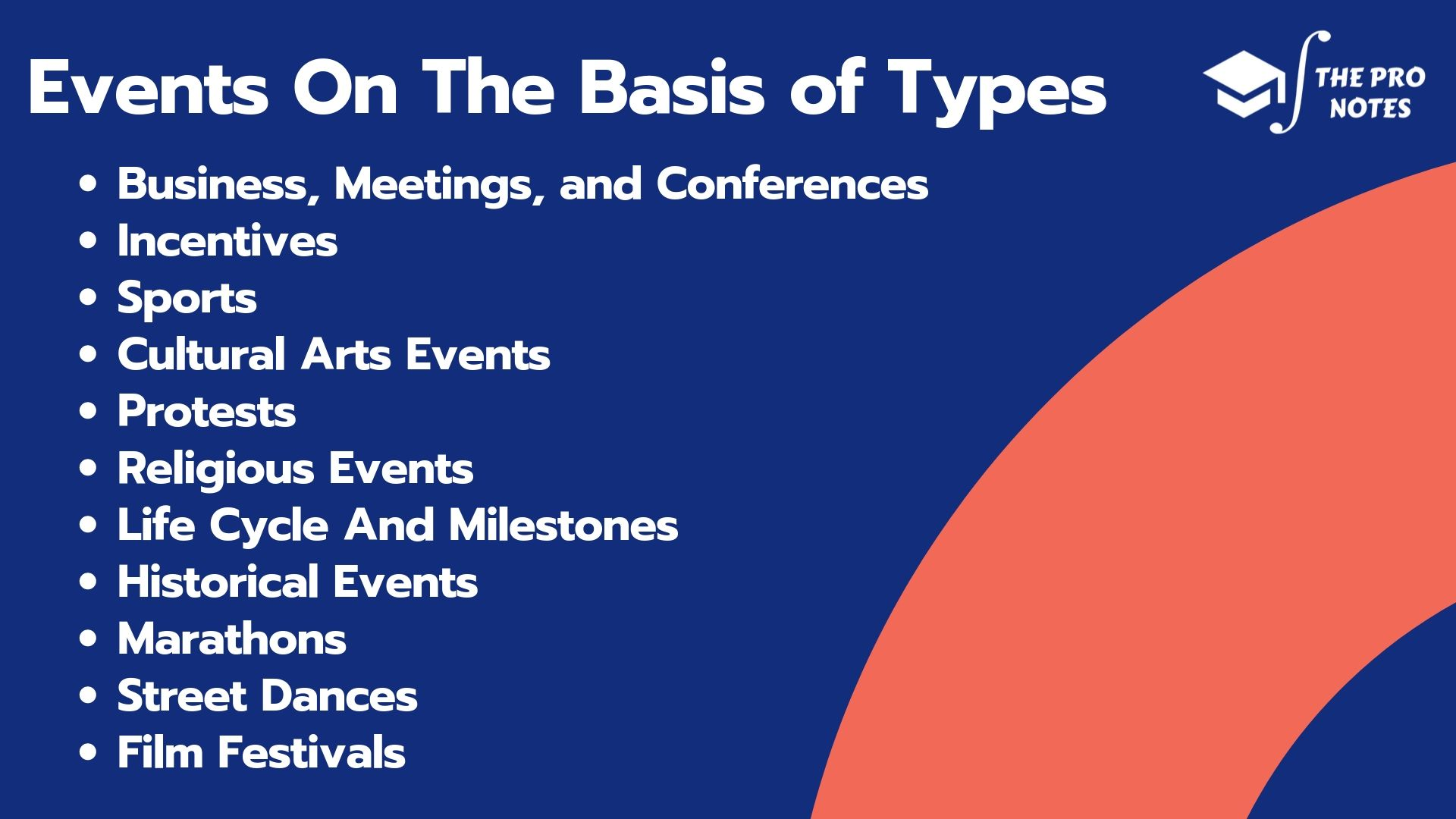Events On The Basis of Types