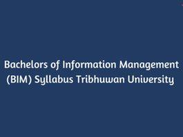 Bachelors of Information Management (BIM) Syllabus Tribhuwan University (TU)
