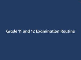 Grade 11 and 12 Examination Routine 2077: NEB