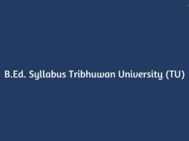 B.Ed. Syllabus Tribhuwan University (TU)