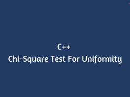 chi-square test for uniformity