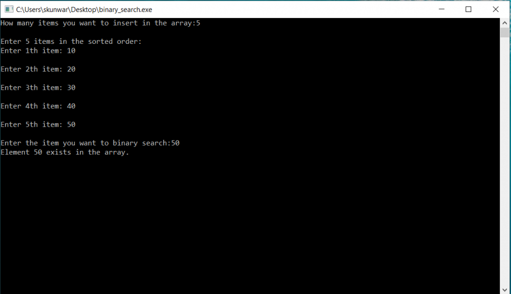 C Program to Implement Binary Search 1