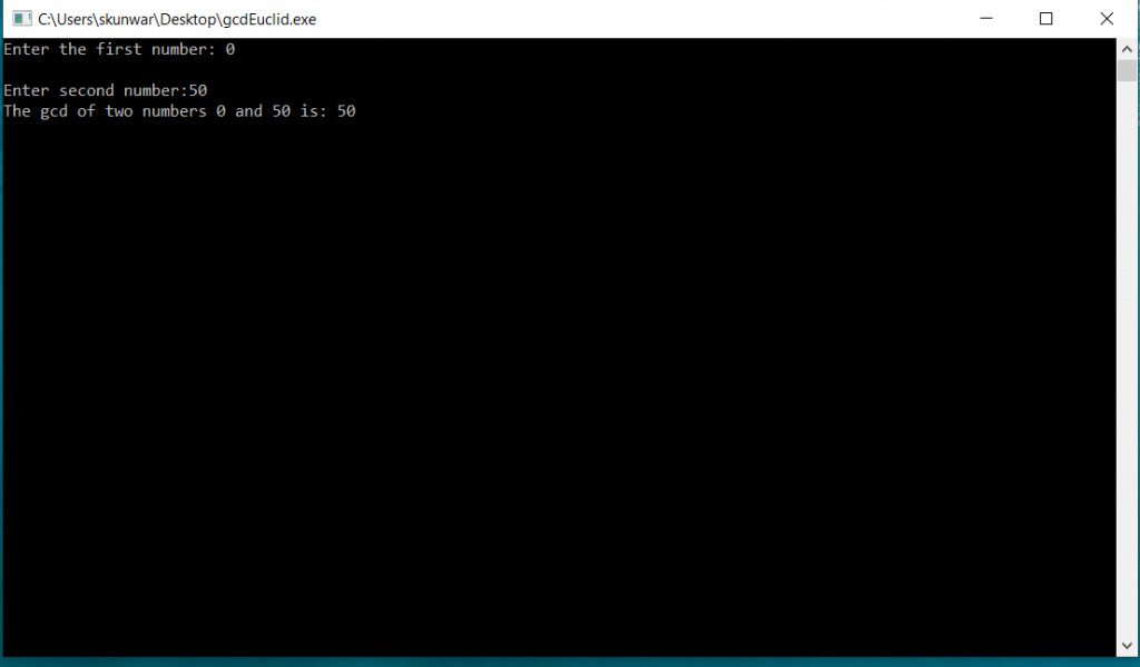 C Program to Find Gcd of Two Numbers using Iterative Euclid's Algorithm 2